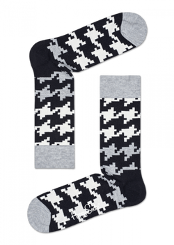Dogtooth Sock Black