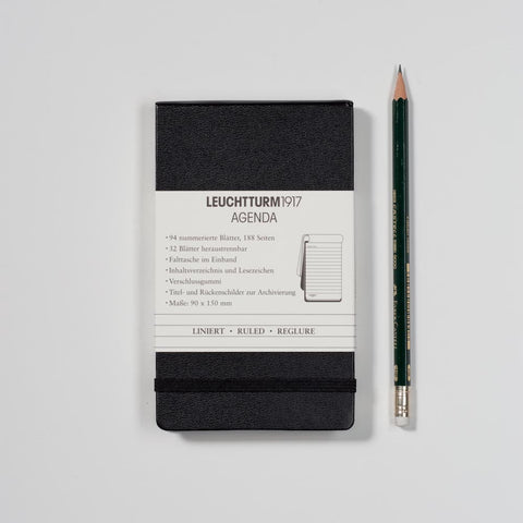 Agenda - Notebook Reporter {A6 Black Lined Hardcover}