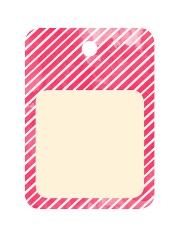 An April Idea Gift Tag - Red Stripe