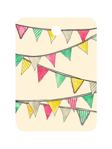 An April Idea Gift Tag - Bunting