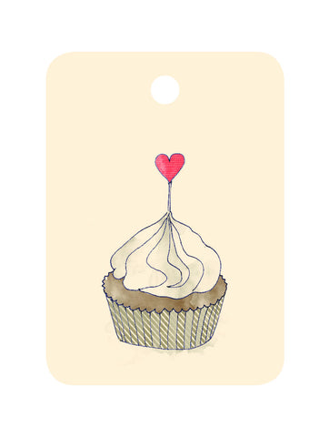 An April Idea Gift Tag - Cupcake
