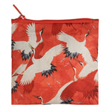 LOQI Shopping Bag Museum Collection - White and Red Cranes