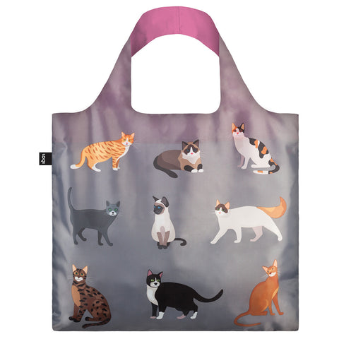 LOQI Shopping Bag Cats & Dogs Collection - Meow
