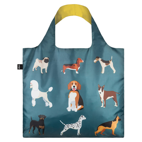 LOQI Shopping Bag Cats & Dogs Collection - Woof