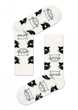 Cat Sock White