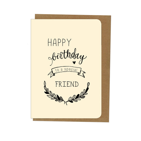 An April Idea Card - Happy Birthday Friend