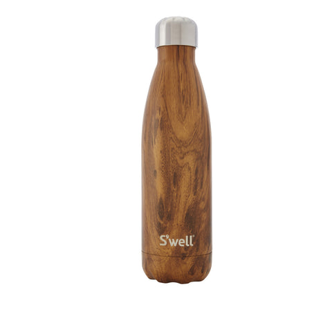 S'well Wood Collection Insulated Bottle 500ml - Teakwood