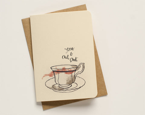 An April Idea Card - Tea and Chit Chat