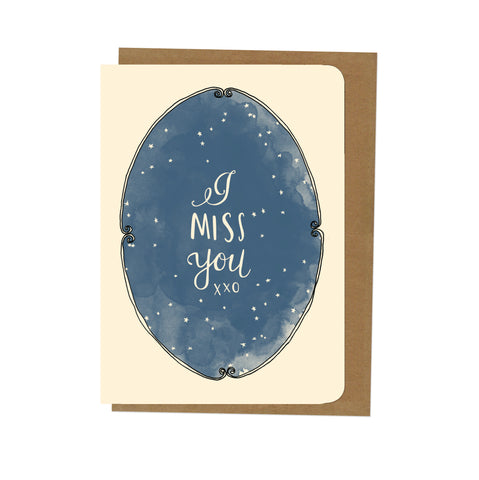 An April Idea Card - I Miss You