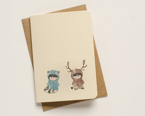 An April Idea Card - Raccoon loves Moose