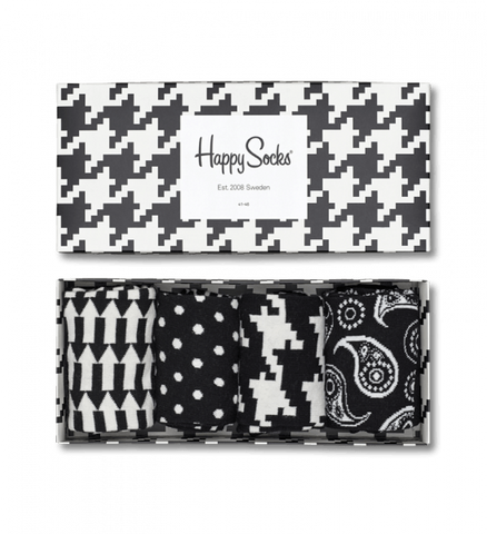 Black White Socks Gift Box