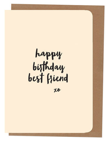 An April Idea Card - Happy Birthday Best Friend