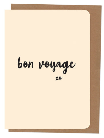 An April Idea Card - Bon Voyage