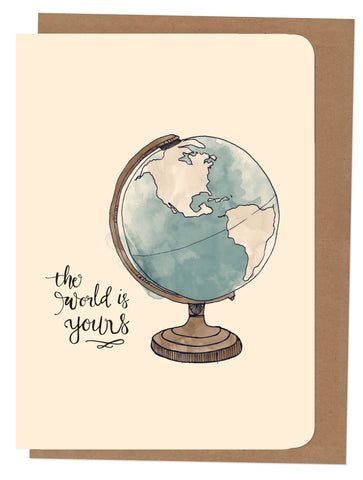 An April Idea A4 Card - Globe