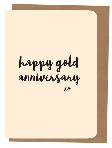 An April Idea Card - Happy Gold Anniversary
