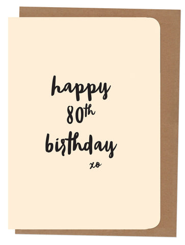 An April Idea Card - Happy 80th