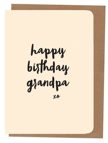 An April Idea Card - Happy Birthday Grandpa
