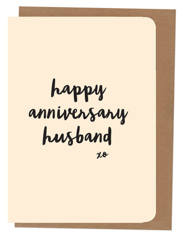 An April Idea Card - Happy Anniversary Husband
