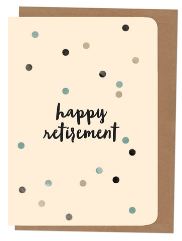 An April Idea A4 Card - Happy Retirement