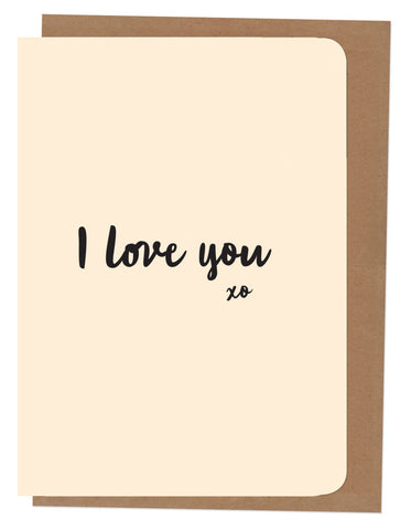 An April Idea Card - I Love you