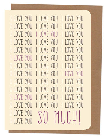 An April Idea Card - I Love you so much!