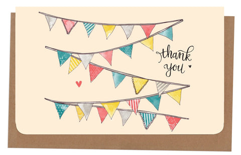 An April Idea Card Thank you - Bunting 10 Pack