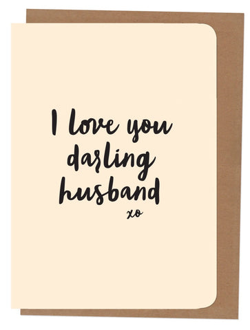 An April Idea Card - I Love you Darling Husband