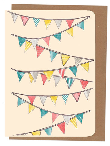 An April Idea A4 Card - Bunting