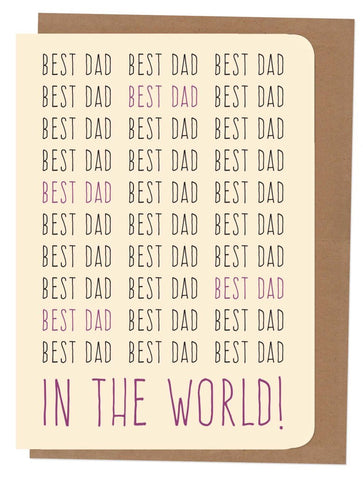 An April Idea Card - Best Dad in the World!