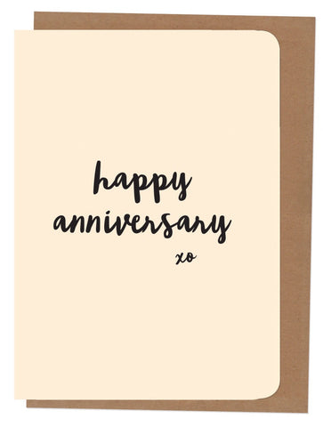 An April Idea Card - Happy Anniversary xx
