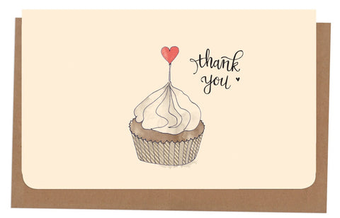 An April Idea Card Thank you - Cupcake 10 Pack