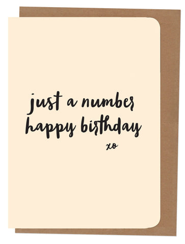 An April Idea Card - Happy Just a Number