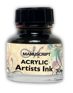 Manuscript Calligraphy Bottled Acrylic Inks - Various Colours
