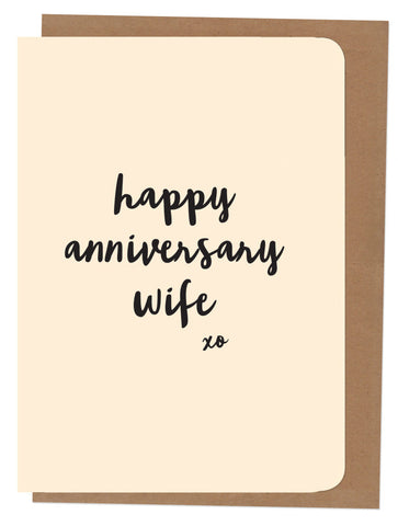 An April Idea Card - Happy Anniversary Wife