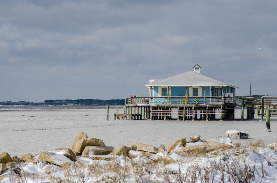 Summer House on Ice - Mission Art OBX