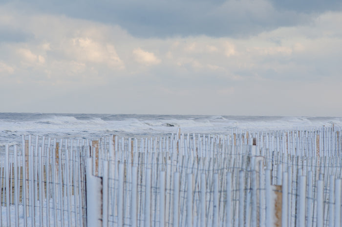 Snow Fence and Surf - Mission Art OBX