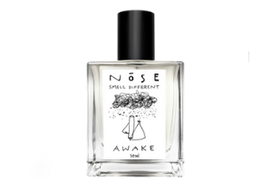 Awake by NŌSE perfumes clear white bottle with black cap at AVÉ PARFUM