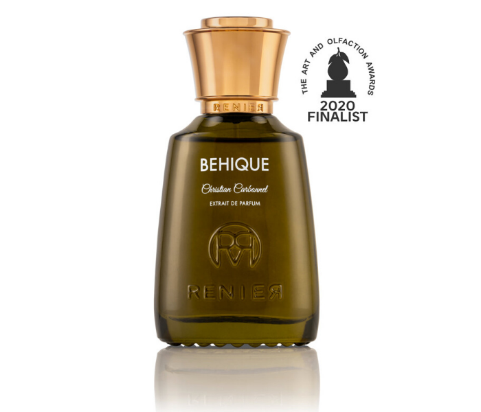 Behique by Renier Perfumes finalist at the 2020 Art & Olfaction Awards scent of success with rum and cannabis gentleman's niche perfume