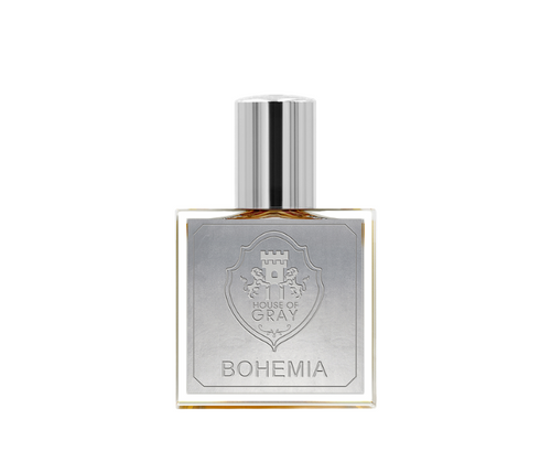 Bohemia by House of Gray Oriental floral perfume with rose, herbs and woods from Bohemian forest, incense, opoponax, animalic base