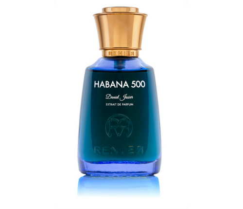 Habana 400 by Renier - AVÉ PARFUM blue bottle travel through modern day havana Cuban coffee sea mist niche perfume