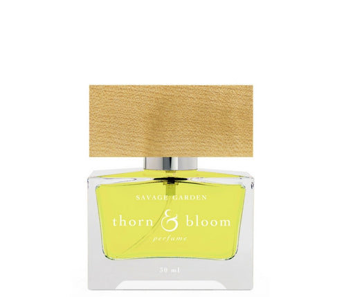 Savage Garden by Thorn & Bloom, GMO Free Natural Perfume at AVÉ PARFUM with bluegrass, mint, palo santo, orris root and wood cap