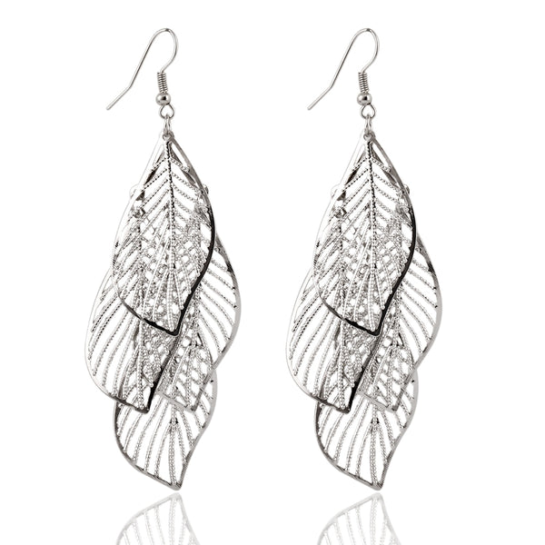 Hollow Leaf Earrings