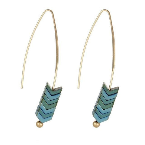 Fishbone Dangle Earrings