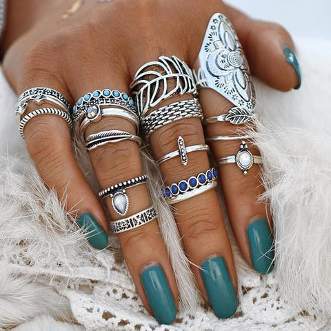 Multi-Stone Rings Set