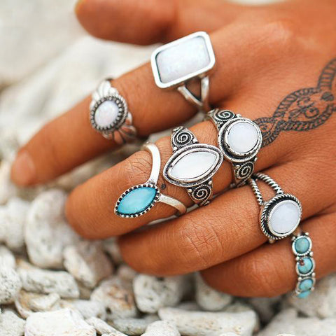 Large Bohemian Rings Set