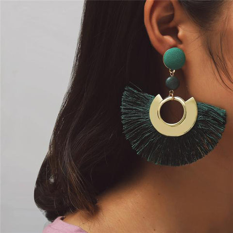 Large Tassel Earrings