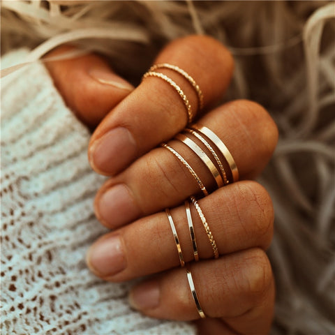 Simple Knuckle Rings Set