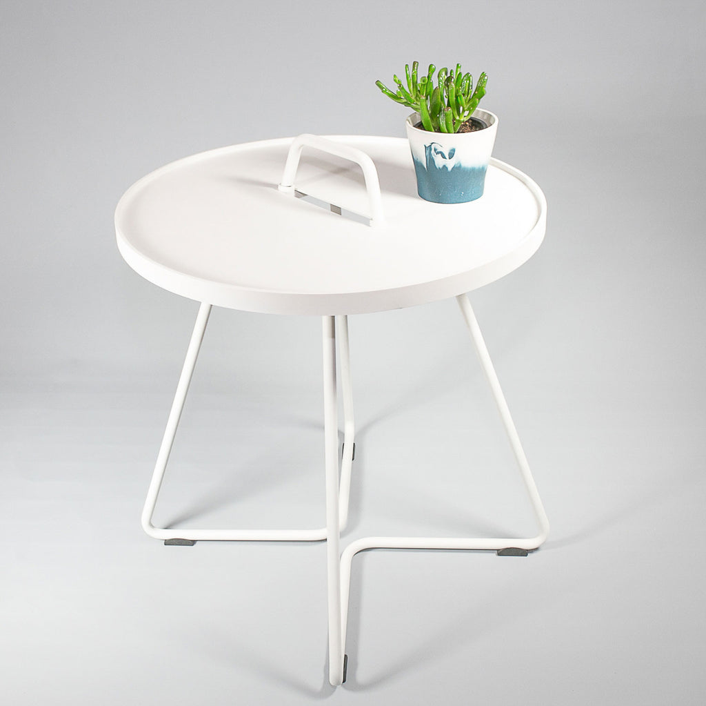 Cane-line Australia White - On the move side table - Large