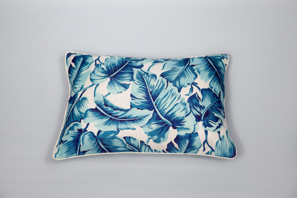 Escape to Paradise Carribbean Leaf Cushion
