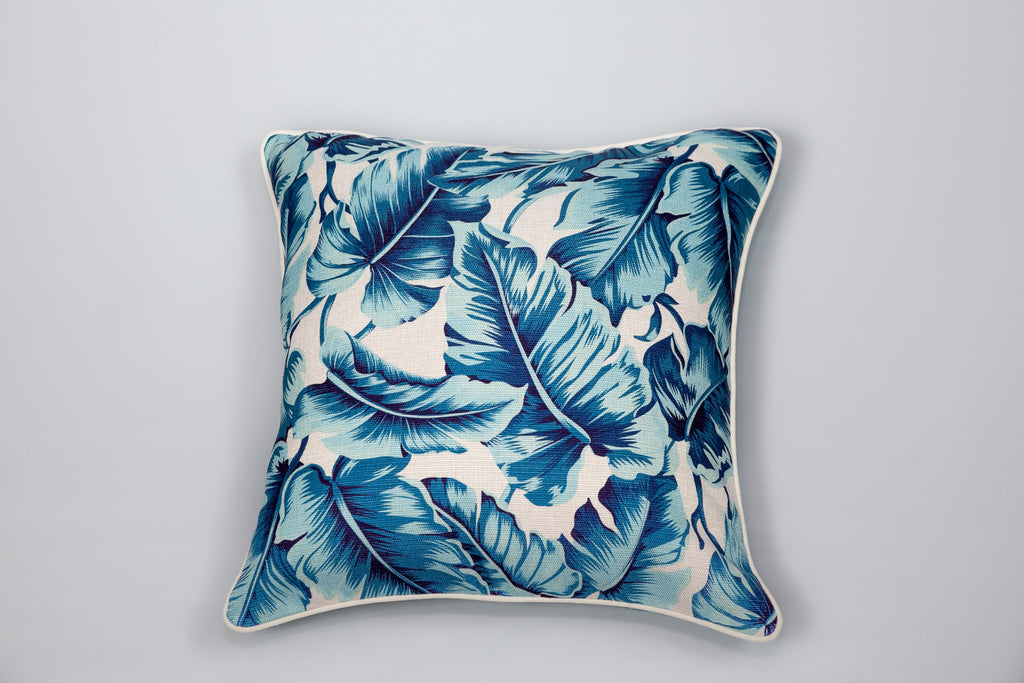 Carribbean Leaf Cushion - Square